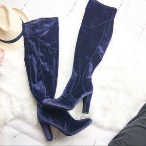 Unisa   NEW Over-the-knee velvet boot